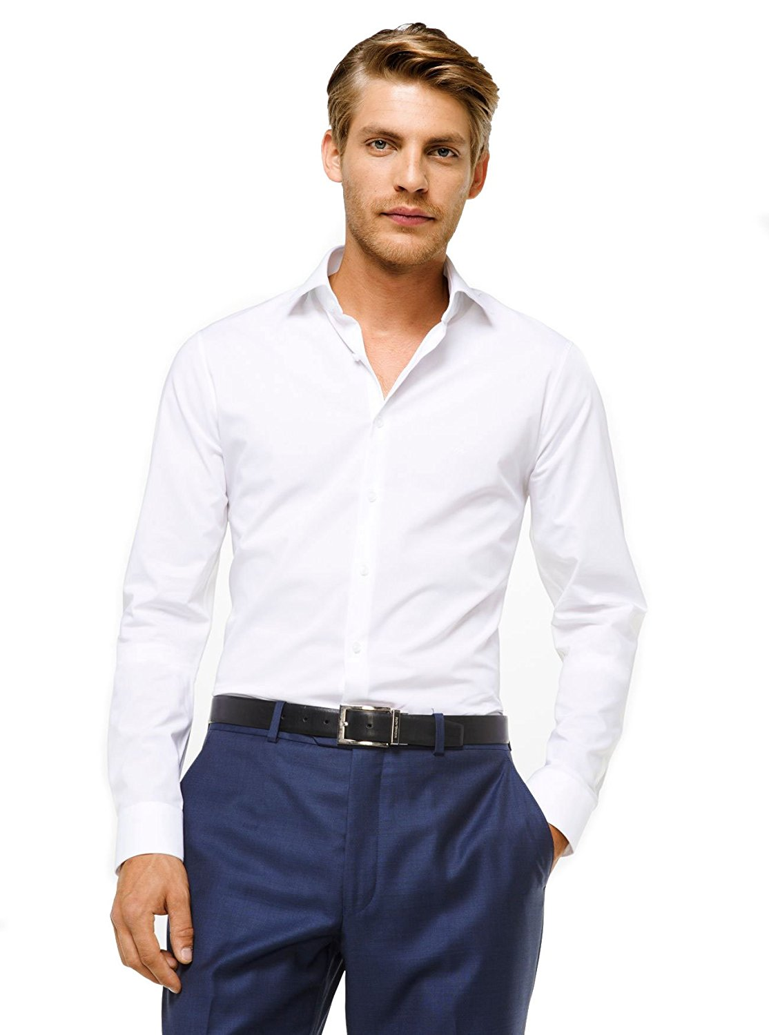 189567ef6f Michael Kors Camicia Slim-Fit in Cotone Stretch - Bianco - MOD. MD0MD90425